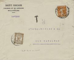 1924- Enveloppe Ouverte  IMPRIMES Affr. 5 C TAXE  20 C  De Recouvrement - Lettere Tassate