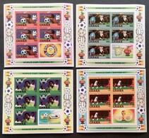 Ghana 1982 World Cup Sheets Of 5 Imperf.M.N.H. - Ghana (1957-...)
