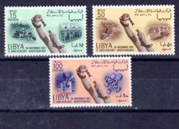 24.12.1961; 10e Anniversaire De L'Inpéndance, YT 201 - 203;  Neuf **, Lot 51514 - Libia