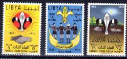 13.7.1962; Pfadfinder; Mi-Nr. 192A - 194A;  Postfrisch, Los 51519 - Libyen