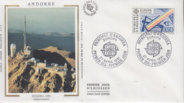 Enveloppe  FDC  1er  Jour   ANDORRE  ANDORRA   EUROPA    1991 - 1991