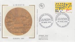 Enveloppe  FDC  1er  Jour   ANDORRE   EUROPA    1995 - 1995