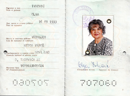 PASSPORT YUGOSLAVIA - ONE DAY VISAS CROATIA - Documenti Storici