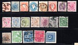 """Österreich, 1850-1914, Kleines Los """"Monarchie"""" Mit 20 Briefmarken, Gestempelt, Unterschiedl.Erhaltung (17554E) - Used Stamps"""
