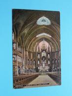 INTERIOR NOTRE DAME CHURCH ( Edit. Illust. Post Card C° - 59 ) Anno 19?? ( Zie Foto Details ) ! - Montreal