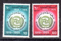 1.6.1969; 50 Jahre ILO, Mi-Nr. 280 +281, Postfrisch, Los 51566 - Libyen