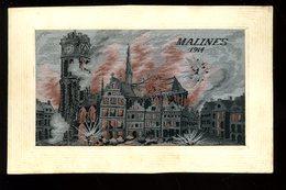 Malines Mechelen 1914 Soie Tissée Delfrène - Mechelen