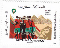 Morocco New Issue 2019,National Foot-Ball Team 1v.compl.set MNH- Nice Topical Foot Stamp- SKRILL PAY - Morocco (1956-...)