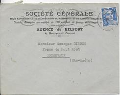 SOCIETE GENERALE AGENCE DE BELFORT - Postmark Collection (Covers)