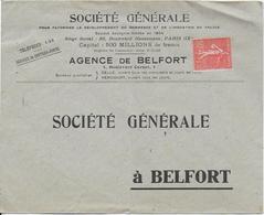 SOCIETE GENERALE AGENCE DE BELFORT - Frankobriefe
