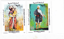 Morocco New Issue 2019, EUROMED, Costumes ,Joint & Common Issue 2v.Pair Cpl.set MNH- SKRILL PAY. - Morocco (1956-...)