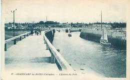 Cpa -  Grandcamp Les Bains - L' Entrée Du Port       AT 533 - Autres Communes