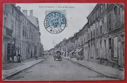 """Cpa 55 LIGNY EN BARROIS Anime """" Rue De Bar-le-Duc """" , Commerces - Ligny En Barrois"""