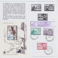 Belgique - BF42+1391/93 Expédition Antarctique Oblit Base Roi Baudouin 9-2-1967 (dernière Date) - Cachet Expédition Belg - Spedizioni Antartiche