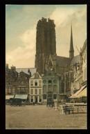 Malines Mechelen Coin De La Grand'Place Et La Cathédrale Nels - Malines