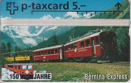 SUISSE - PHONE CARD - TAXCARD-PRIVÉE *** TRAIN - ZUG - 150 ANS / 3B *** - Schweiz