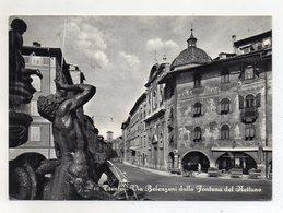 Trento - Via Belenzani Dalla Fontana Del Nettuno - Viaggiata Nel 1958 - (FDC16426) - Trento