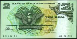 PAPUA NEW GUINEA - 2 Kina Nd.(1981-1991) {Signature 3} {sign. ToRobert & Vele} UNC P.5 C - Papua Nuova Guinea