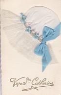 Cpa Bonnet De Sainte Catherine - Bonnet En Tissu (voir Scan Recto-verso) - Sainte-Catherine