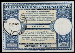 MEXICO / MEXIQUE Lo16n 1.30 PESO International Reply Coupon Reponse Antwortschein IAS IRC O MONTERREY 19.6.59 - Mexique
