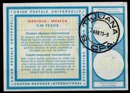 MEXICO / MEXIQUE Vi20 2.45 PESOS International Reply Coupon Reponse Antwortschein IAS IRC O TIJUANA 2.4.73 - Mexico