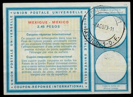 MEXICO / MEXIQUE Vi20 2.45 PESOS International Reply Coupon Reponse Antwortschein IAS IRC O MEXICO1 D.F. 7.8.73 - Mexiko
