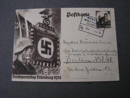 DR Karte Bahnpost 1934 - Allemagne