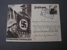 DR Karte Bahnpost 1934 - Deutschland