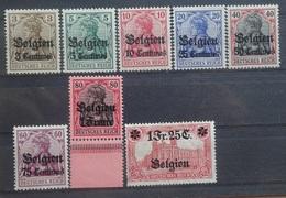 BELGIE  1914   Bezettingszegels   OC 1 - OC 8    Postfris **   CW  320,00 - WW I