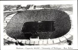 Cp Ann Arbor Michigan USA, Stadium, University Of Michigan, American Football Game, Aerial View - Stati Uniti