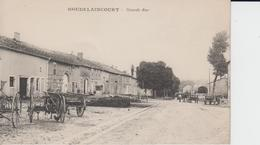 MEUSE - HOUDELAINCOURT - Grande Rue   ( - Avec Matériel Agricole - écrite En 1915 ) - Autres Communes