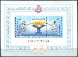 Saint Marin - 1984 - Yt BF 12 - JO De Los Angelès - ** - Blocs-feuillets