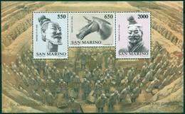 Saint Marin - 1986 - Yt BF 13 - 19 Ans De Relations Avec La Chine - ** - Blocs-feuillets