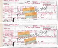 Billet D'avion SABENA  Bruxelles - Oslo - Bruxelles - Milan - Bruxelles (2 Billets Pour Ce Même Itinéraire) - Tickets