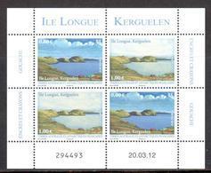 TAAF - 2012 - Feuillet Vue De L'Ile Longue (Kerguelen), à L'encre Et à La Gouache ** - Terres Australes Et Antarctiques Françaises (TAAF)