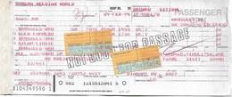 Billet D'avion SABENA  Bruxelles - Oslo - Bruxelles - Milan - Bruxelles - Tickets
