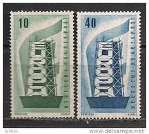 GERMANY EUROPA CEPT 1956 SET MNH - Europa-CEPT