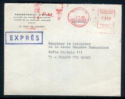 France - Enveloppe En Exprès De Paris Pour Chalon / Saône En 1969 - Réf AT 119 - Marcofilia (sobres)