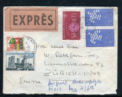 France - Enveloppe En Exprès De Epinac Les Mines Pour La Suisse En 1961 - Réf AT 120 - Marcofilie (Brieven)