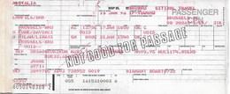 Billet D'avion ALITALIA Bruxelles - Rome - Milan - Bruxelles - Tickets