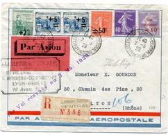 CLERMONT FERAND Env. Par Avion Vol Montlucon Clermont Lyon Geneve Du 16/04/1929 Reporté Au 3/05/1929 - 1921-1960: Modern Period
