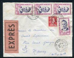 France - Enveloppe En Exprès De Montpellier Pour Nancy En 1959 - Réf AT 126 - Marcophilie (Lettres)