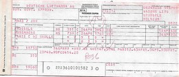 Billet D'avion LUFTHANSA  Bruxelles - Nuremberg - Paris CDG - Tickets