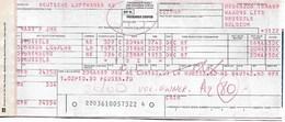 Billet D'avion LUFTHANSA  Bruxelles - London - Nuremberg - Bruxelles - Tickets