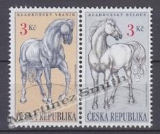 Czech Republic - Tcheque 1996 Yvert 120-21 Fauna, Kladruby Horse -  MNH - Nuevos