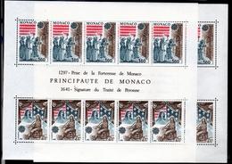 1982 Monaco EUROPA CEPT EUROPE 2 Foglietti MNH** Bl.19 2 Minisheets - 1982