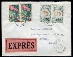 France - Enveloppe En Exprès De Paris Pour La Suisse En 1962 - Réf AT 133 - Marcofilie (Brieven)