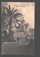 Brussel - Exposition De Bruxelles 1910 - Section Allemande - Papier De Lin - Animation - Expositions Universelles