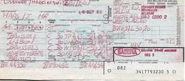 Billet D'avion SABENA  Bruxelles - Lisbon - Bruxelles - Nuremberg - Bruxelles - Tickets