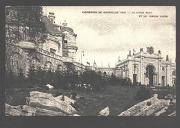 Brussel - Exposition De Bruxelles 1910 - Le Chien Vert Et Le Jardin Alpin - Expositions Universelles